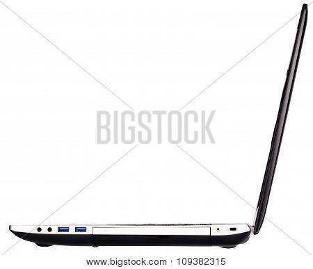 Open Laptop Side View