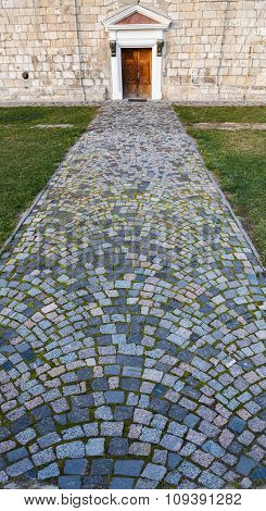 Road Cobbled By  Stone Blocks