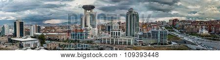 Panoramic view of Ankara city,Turkey