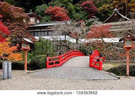 Japanese old traditional bridge