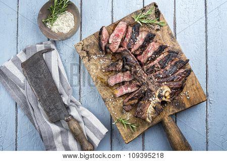 Dry Aged Barbecue T-Bone Streak