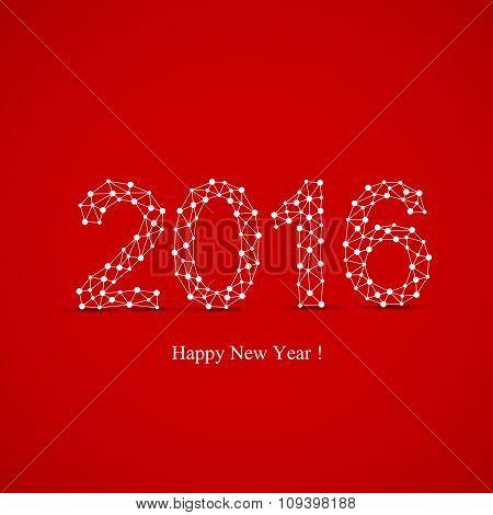 Text design Happy new year 2016