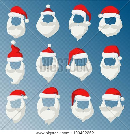 Portrait Santa Claus face cut mask silhouette