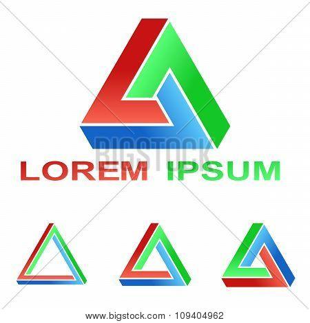 Penrose triangle technology symbol set