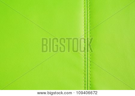 Background Texture Of Green Artificial Leather