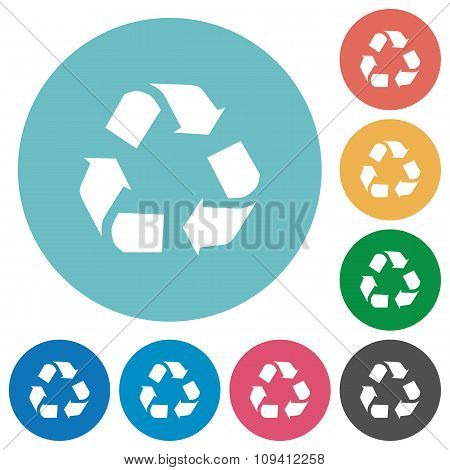 Flat Recycling Icons