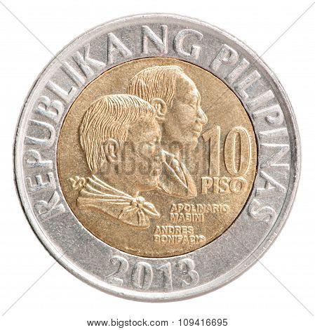 Philippine Piso Coin 10