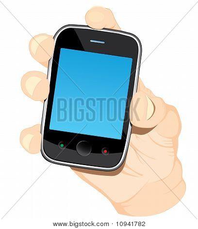 Teléfono en la mano