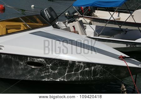Speedboat close up