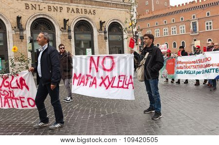 National Demonstration In Support Of Nino Di Matteo