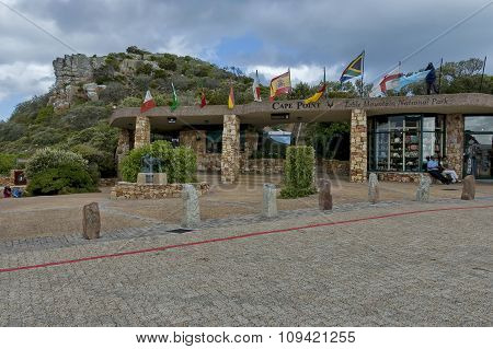 Square by funicular station to lighthouse of Cape of Good Hope