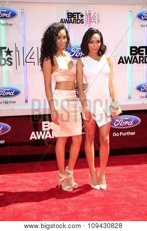 LOS ANGELES - JUN 29:  Bria Murphy, Shayne Murphy at the 2014 BET Awards - Arrivals at the Nokia Theater at LA Live on June 29, 2014 in Los Angeles, CA