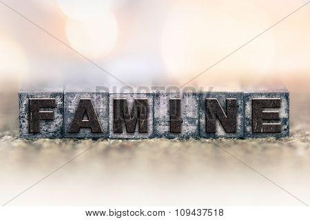 Famine Concept Vintage Letterpress Type