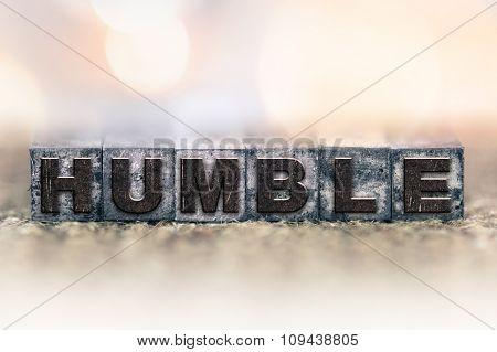 Humble Concept Vintage Letterpress Type