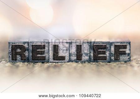 Relief Concept Vintage Letterpress Type