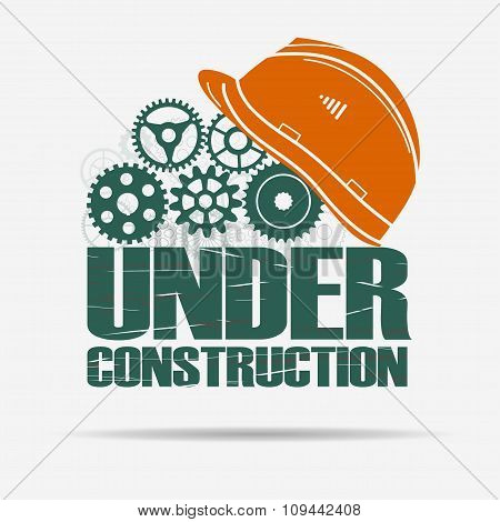 Under construction, gears and helmet