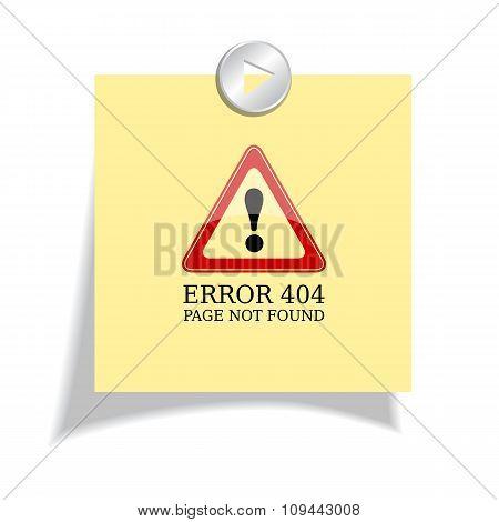Error 404 sign page not found