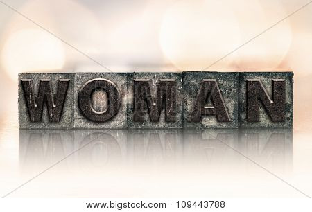 Woman Concept Vintage Letterpress Type