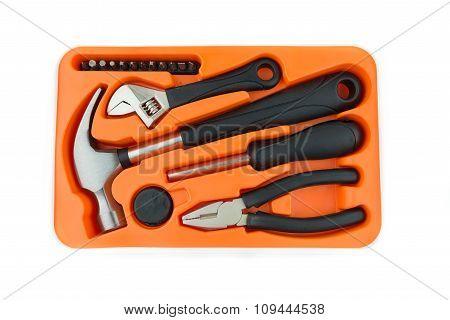 Hardware Tool Set  Hammer Screwdriver Wrench