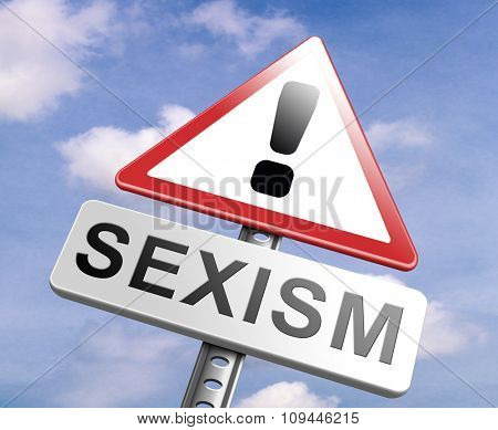 stop sexism no gender discrimination and prejudice or stereotyping for women or men