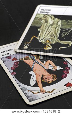 tarot cards - love and death