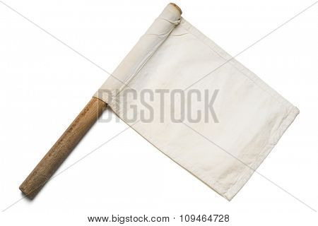 a white signaling flag on white