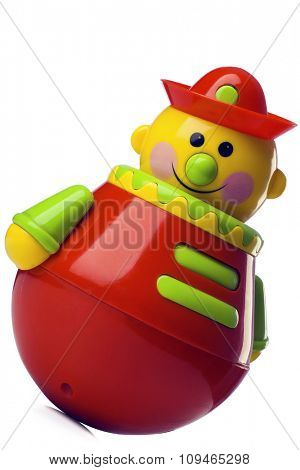 roly-poly toy on white with clipping path