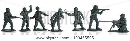 american second world war toy soldiers on white