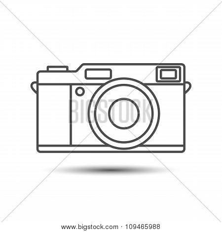 Retro vintage camera icon