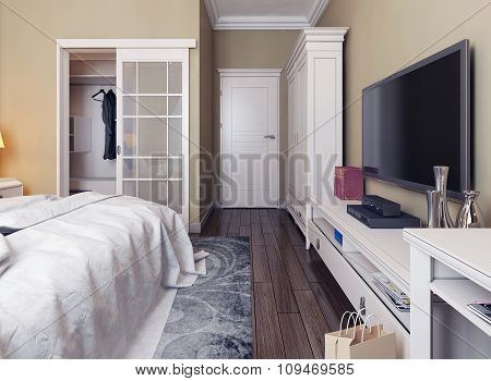 Bedroom In Neoclassicism Style
