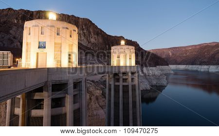 Lake Mead The Colorado River Hoover Dam Neveda Arizona