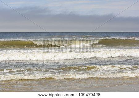 Crashing Waves on a LIghthouse Beach on the Oregon Coast near Coos Bay poster