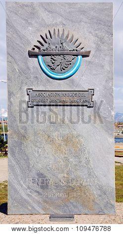 Memorial to the ARA General Belgrano