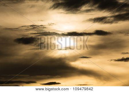 Black Cloud In Darkness Sky, Night Sky Of Halloween Background