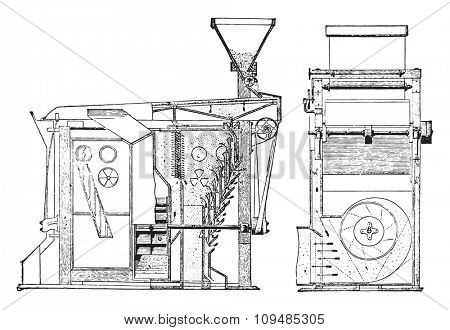 And ripping through a purifier scrubber, vintage engraved illustration. Industrial encyclopedia E.-O. Lami - 1875.