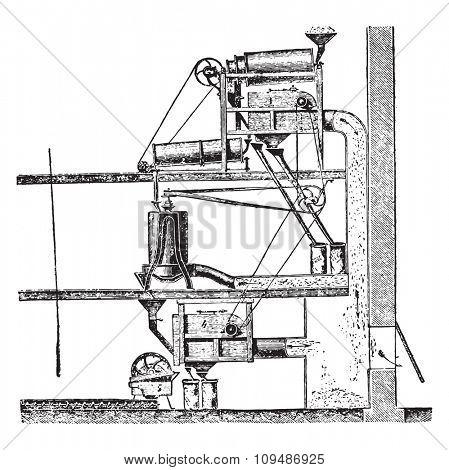Mr. Rose Cleaning Kit, vintage engraved illustration. Industrial encyclopedia E.-O. Lami - 1875.