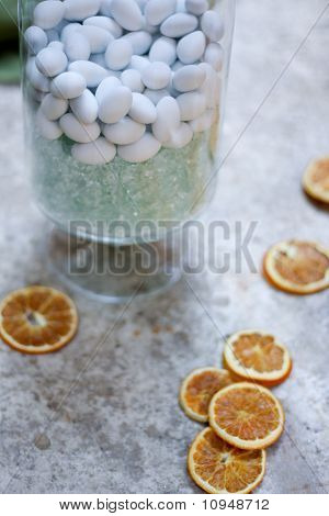 Stone candy with dried fruit