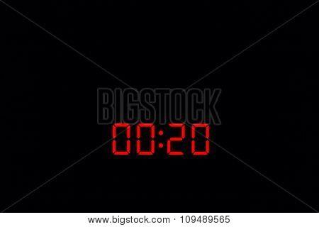 Digital Watch 00:20