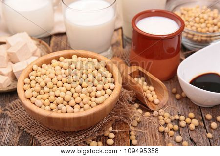 composition with soy product