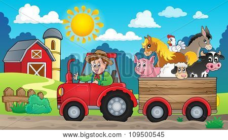 Tractor theme image 3 - eps10 vector illustration.