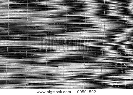 Curtain Or Screen From A Reed Of Black Color