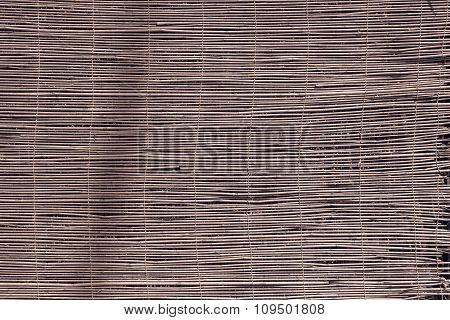 Curtain Or Screen From A Reed Of Brown Color