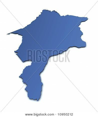 Map of Maranhao - Brazil