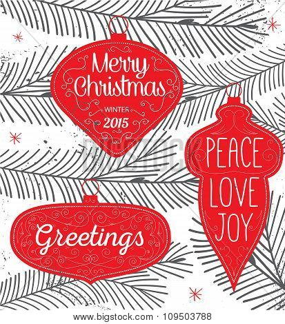 Hipster Typography Christmas background