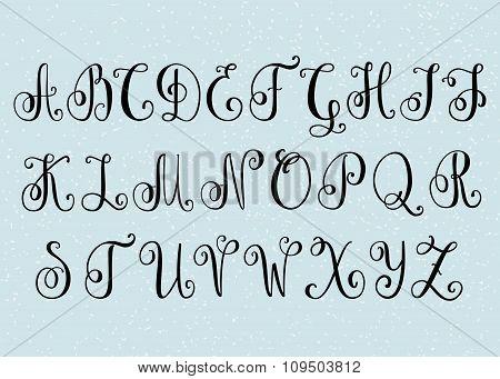 Handwritten Brush Flourish Font.