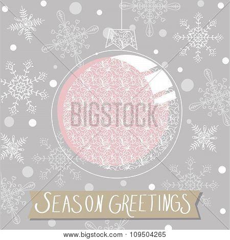 season greeting with christmas decoration