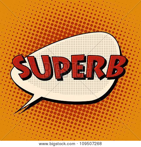 superb super excellent comic bubble retro text