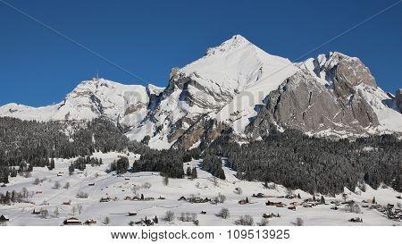 Majestic Mt Saentis In Winter