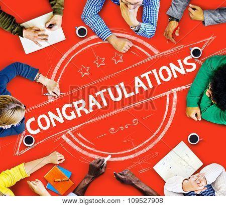 Congratulations Acheivement Celebration Admiration Concept
