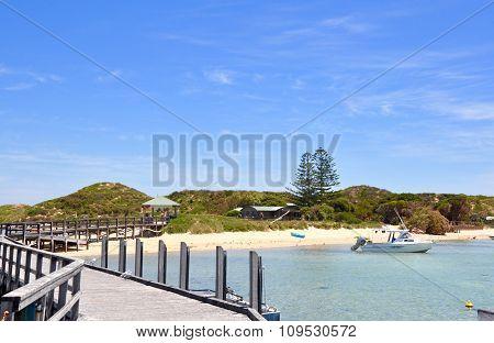 Jetty Entrance to Penguin Island: Western Australia